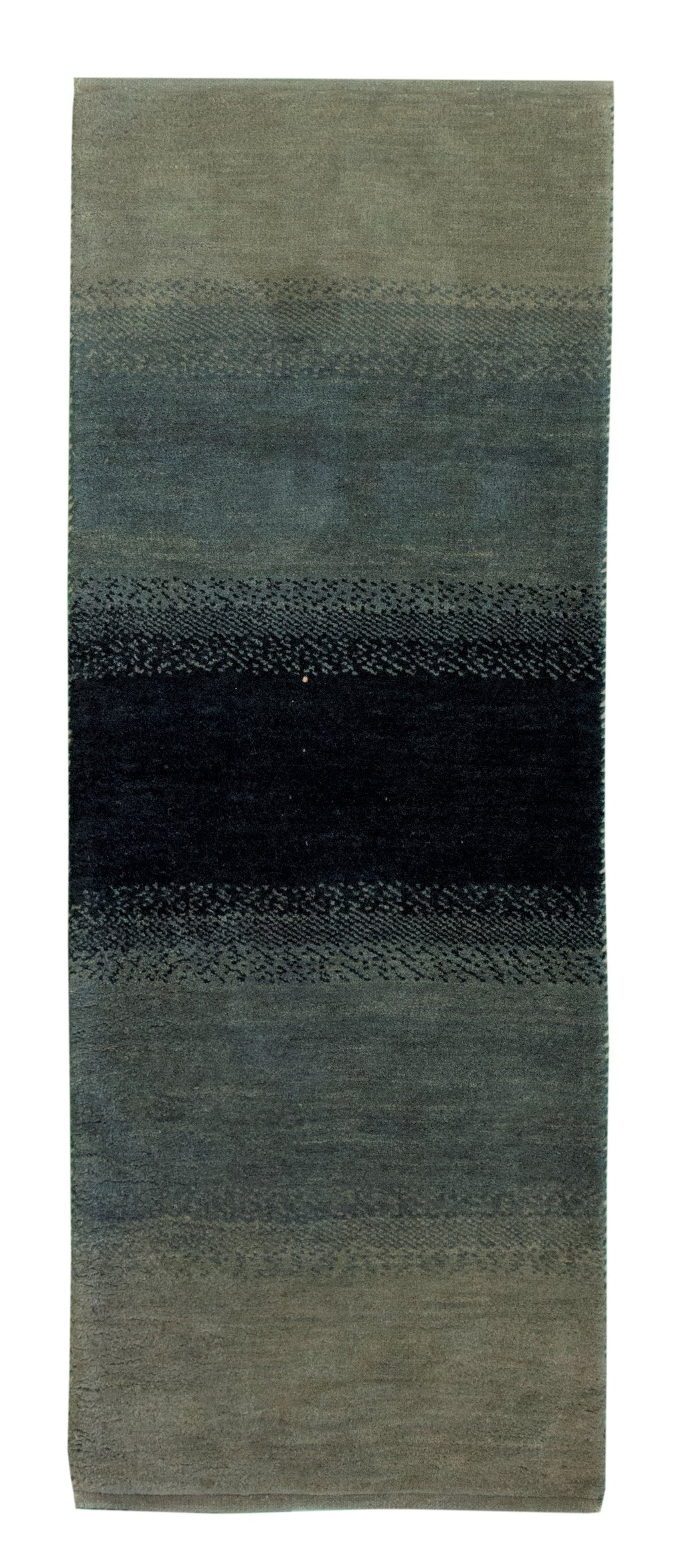 Gabbeh Runner Green 2'8x6'11