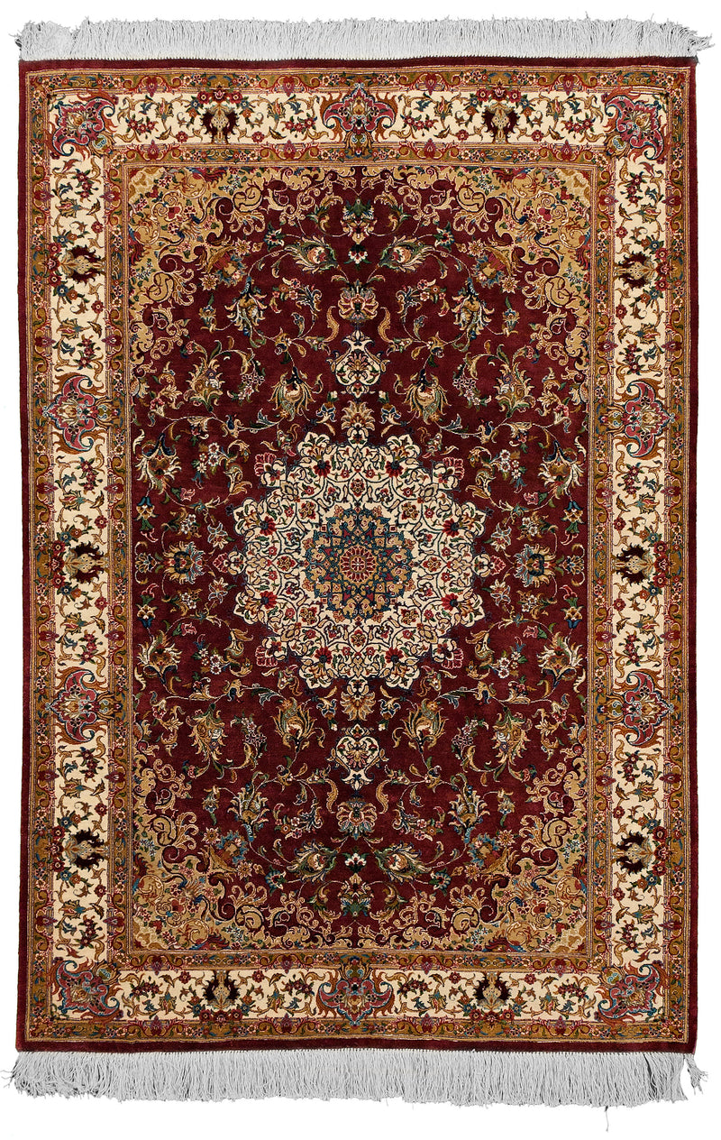 Qom Silk Red 3x5
