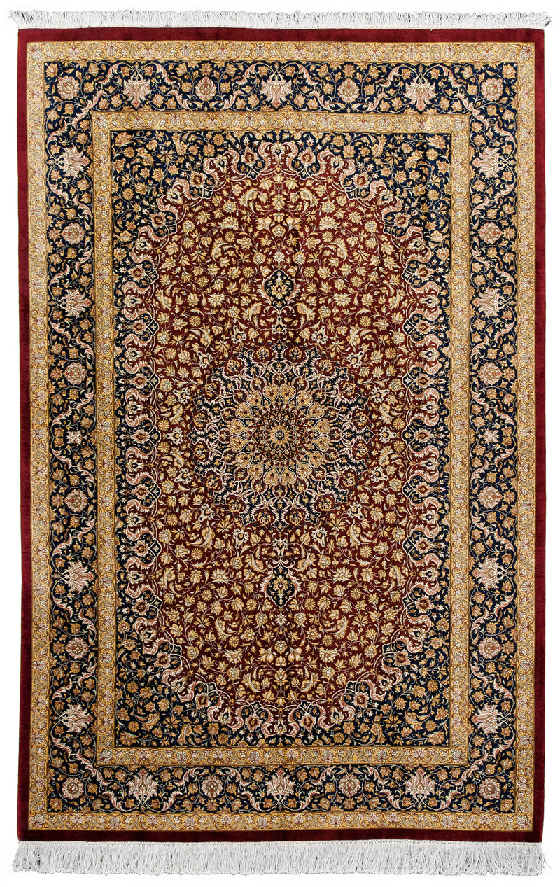 Qom Silk Red 5x7
