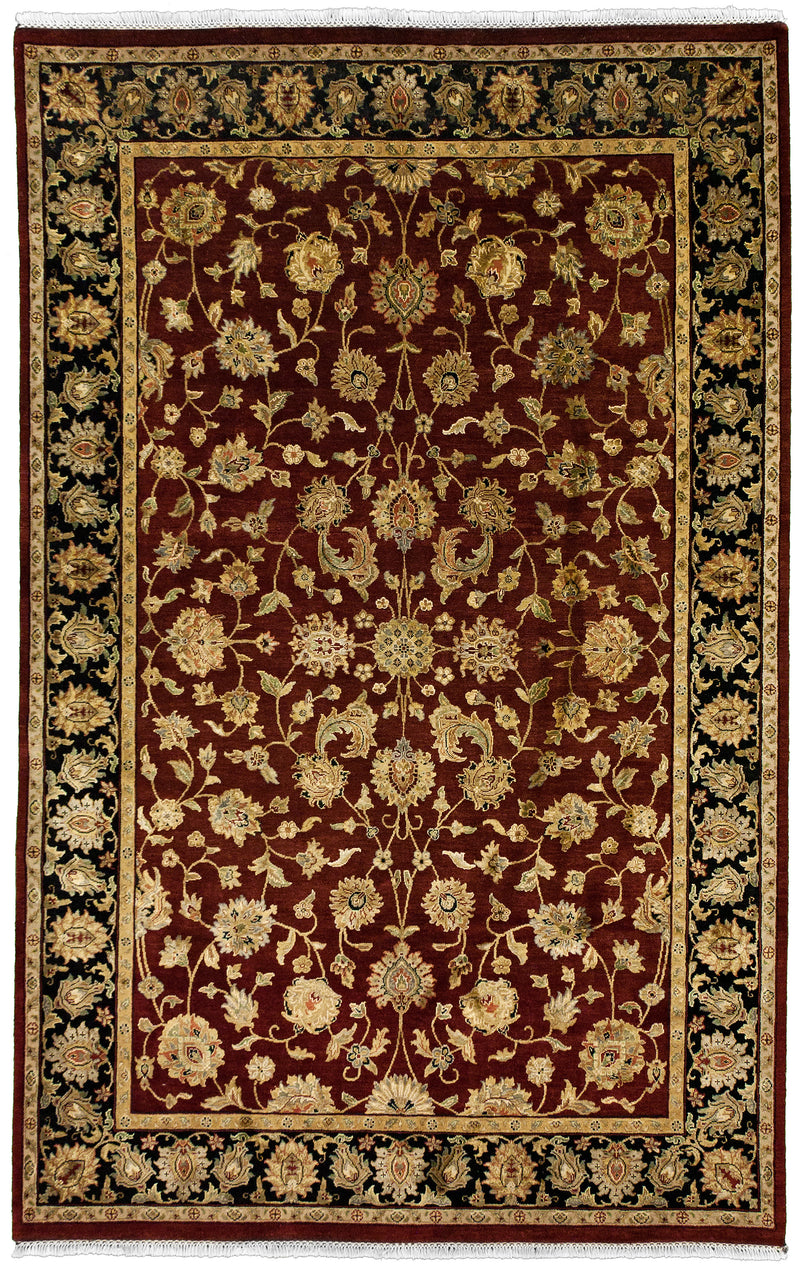 Indo Collection- Tabriz Red 6 x 9