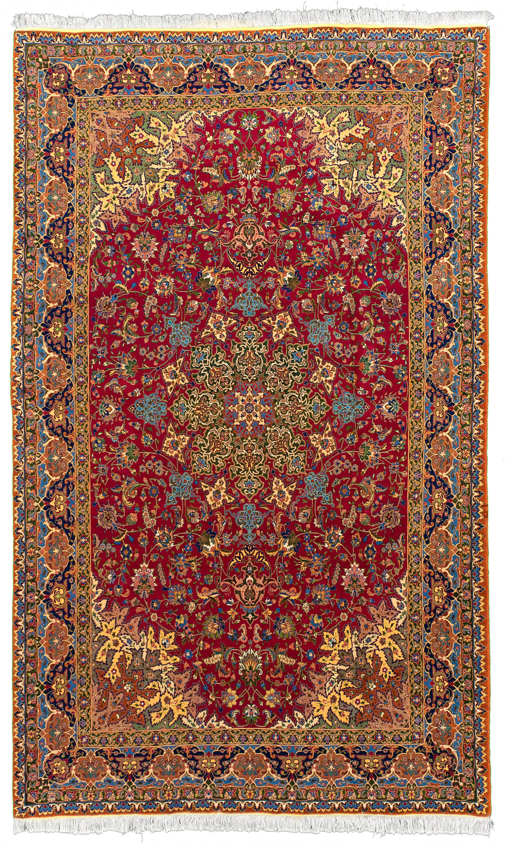 Antique Tabriz Red 6x9