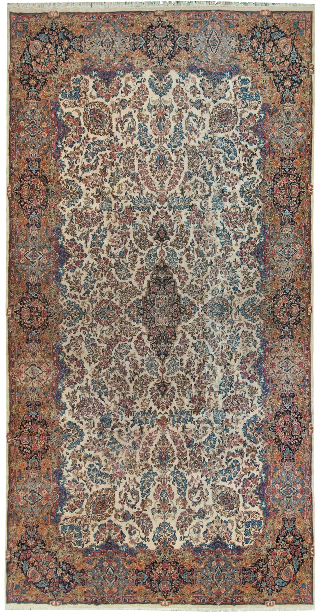 Antique Kerman Ivory 10x18