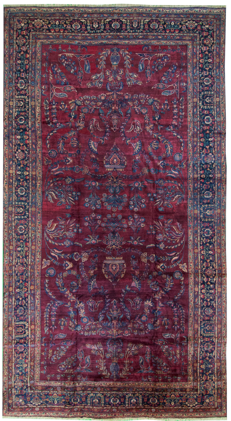 Antique Kerman Red 10x18