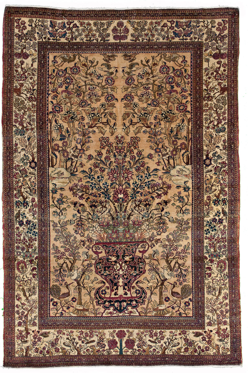 Antique Bakhtiari Navy 12.1x16.2