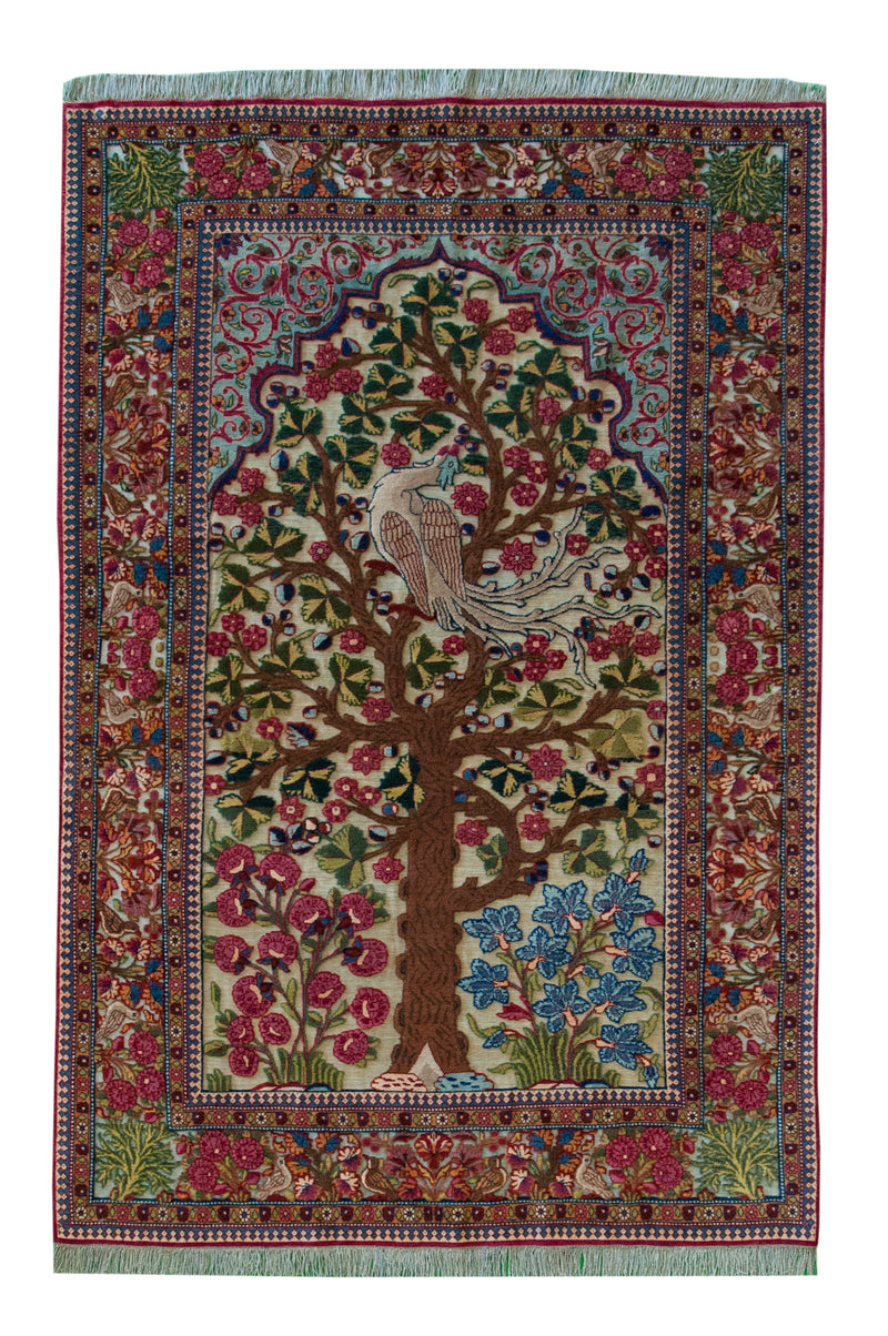 Antique Kashan Souf 4'5x6'9