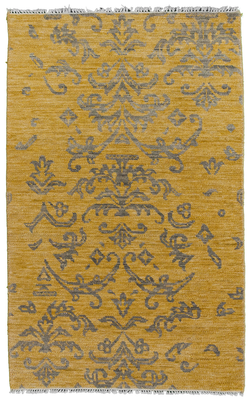 Antique Kurdish Runner Blue 3'6x12'6