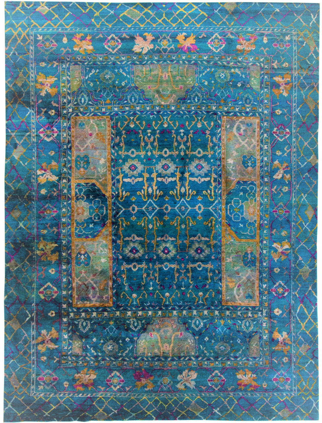 Sari Silk Collection Blue 9x12