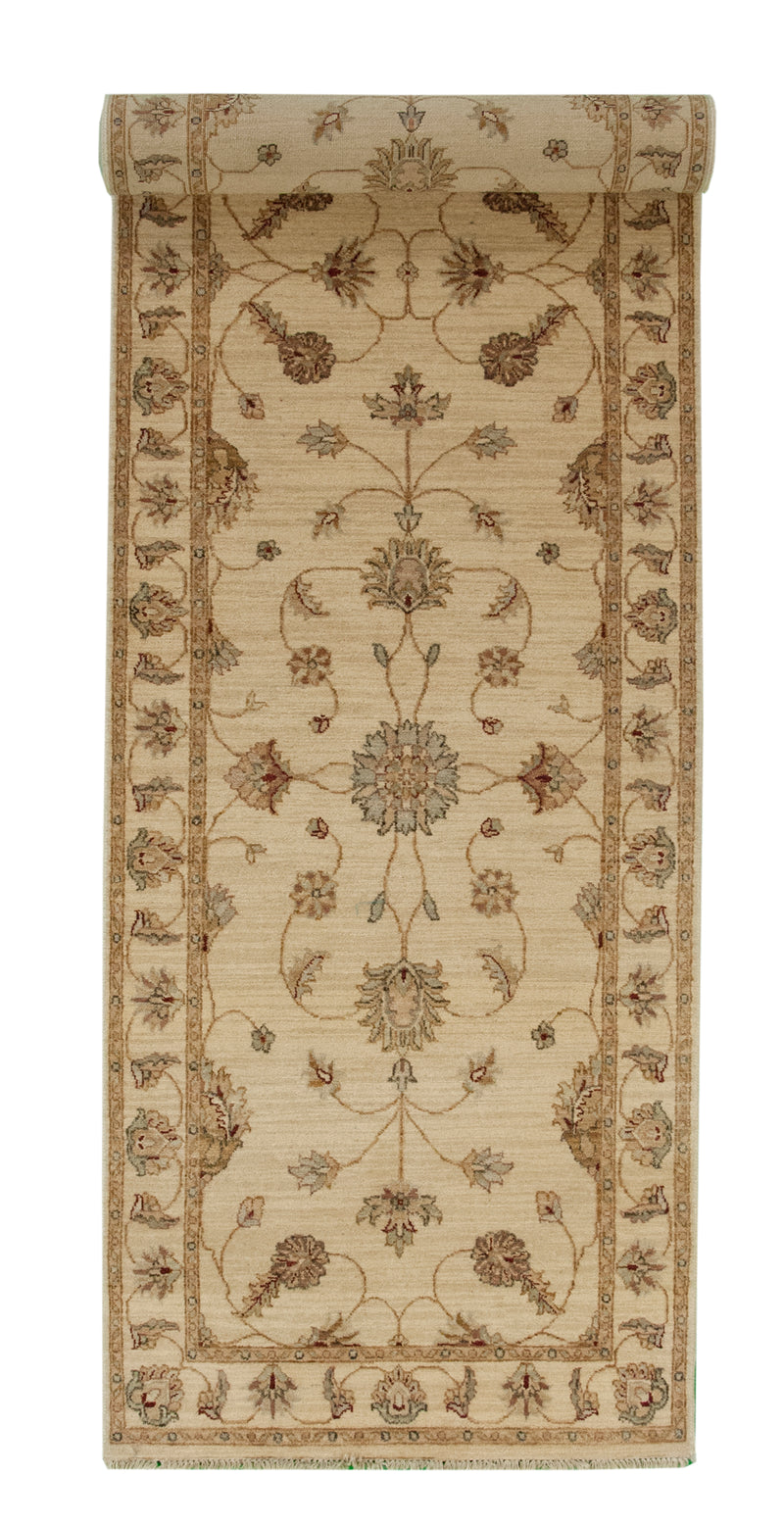 Persian Tabriz Black Runner 3 x 14.6