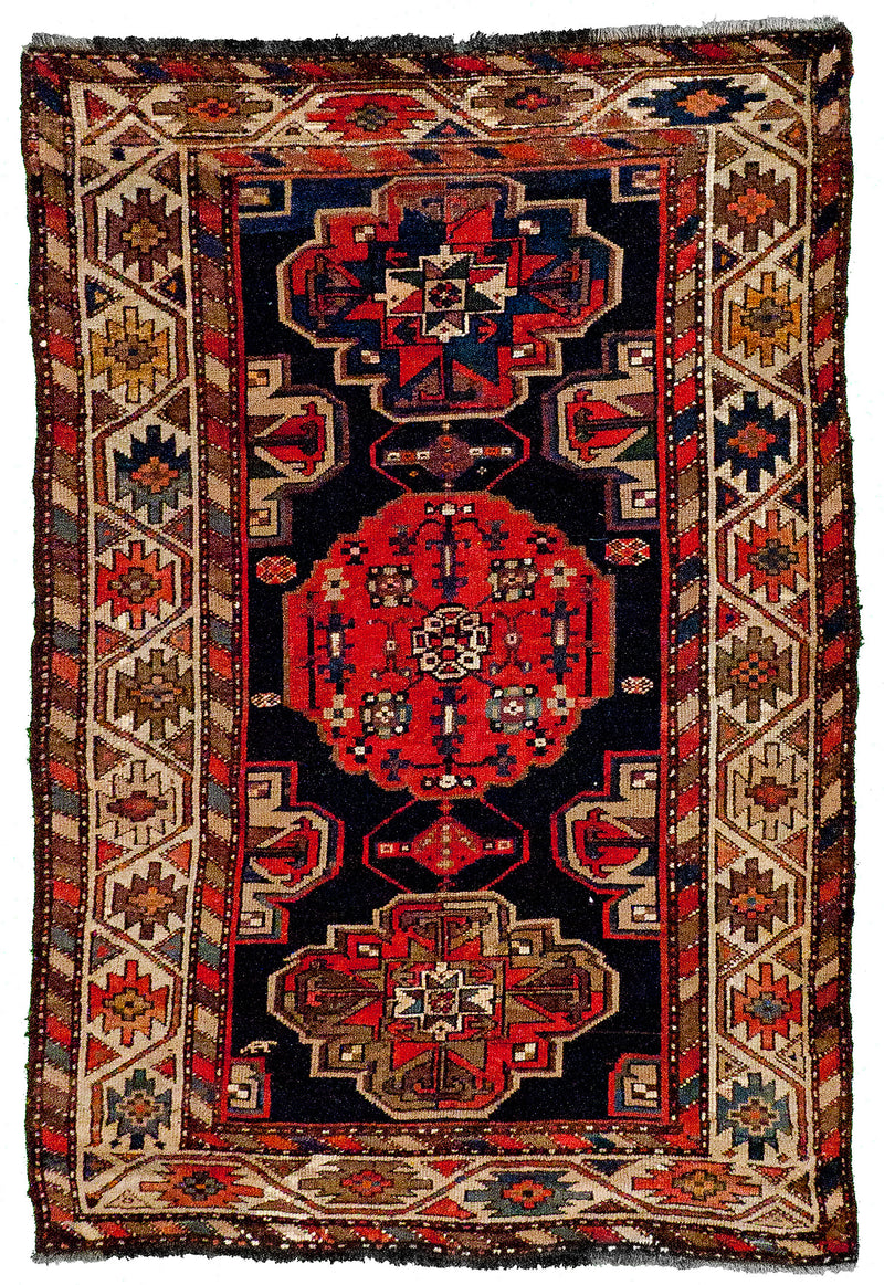 Persian Tabriz - Fish Red Runner 2.6 x 6.6