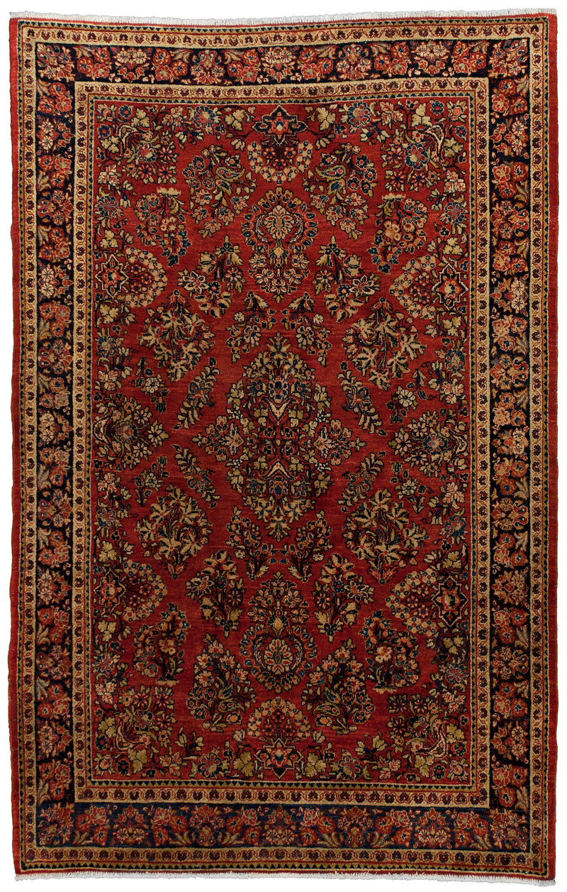 Persian Kashan (Antique) Red 4.6 x 7