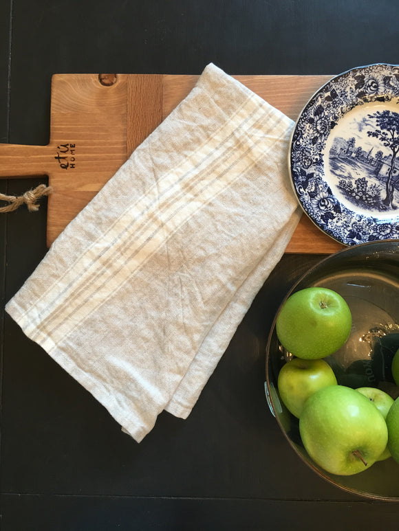 European French Linen Tea Towel in Oatmeal