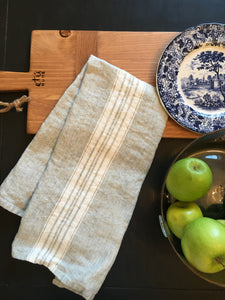 European French Linen Tea Towel in Sea Green