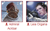Leia/Ackbar Star Wars Destiny Deck