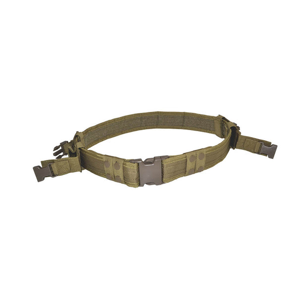 TACPOOL USA Tactical Nylon Duty Belt with 2 Removable Pouches, Black / Dark Earth
