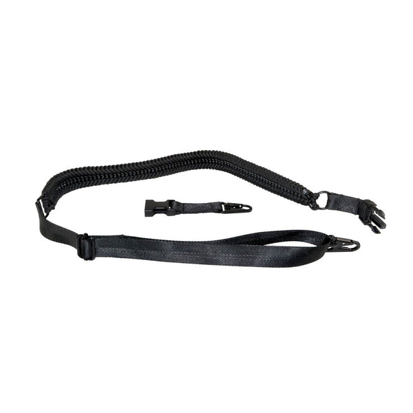 TACPOOL Tactical 2 Point Sling with 2 Quick Detach Hooks, Black / Tan