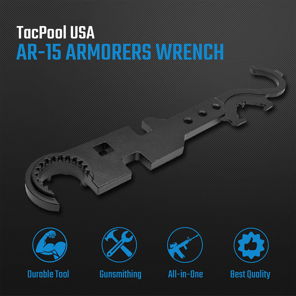 NcStar All-in-1 Gen 1 Armorer's Wrench Tool for AR-15 Gunsmithing