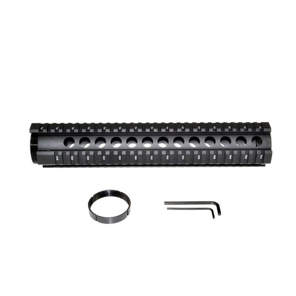 TACPOOL Enhanced AR-15 Free-Float Quad Rail Handguard 4/ 7/ 10/ 12 Inch