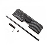AR-15 Ejection Port Dust Cover Complete Assembly Kit with USA Flag engraving
