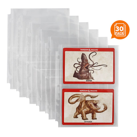 2 Pocket Card Pages for Mini Binder, 30 Page Pack