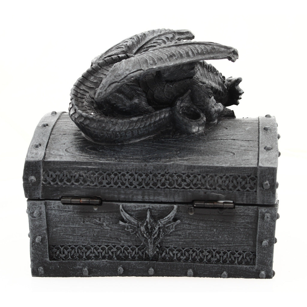 Deluxe Dragon Dice Storage Box with Custom Dice Foam Insert - Container Holds up to 6 Sets of Polyhedral Dice or 42 Individual Dice
