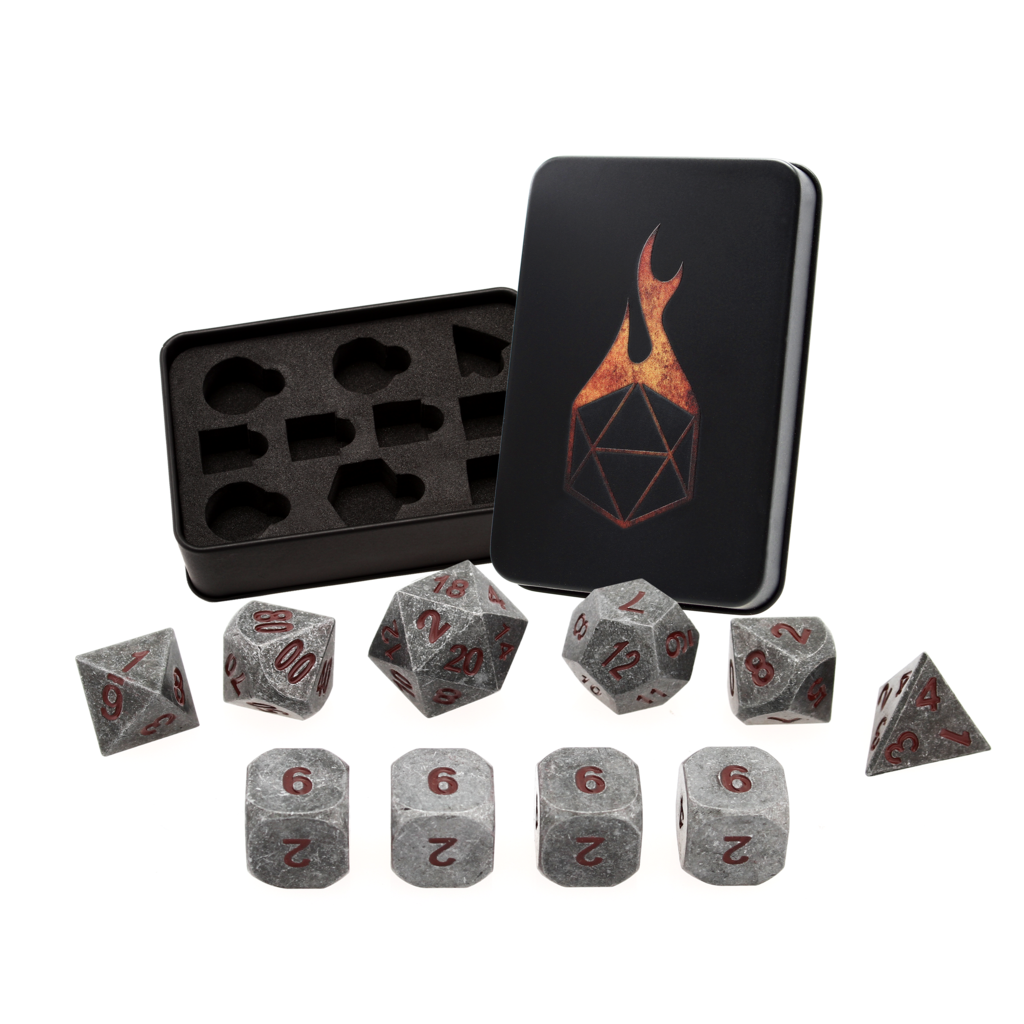 IRON RED Set of 10 with Extra D6 Dice