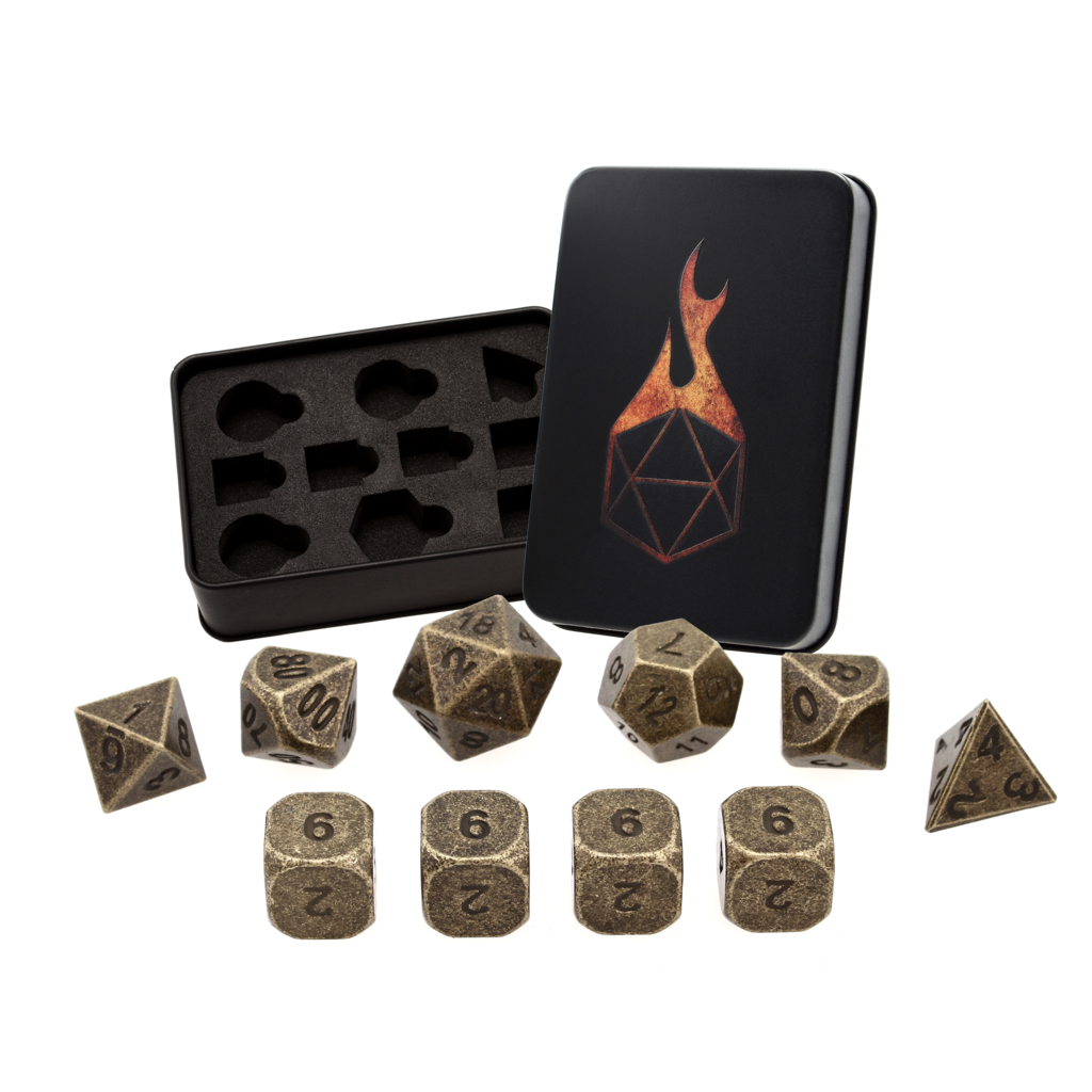 THIEVES GOLD Set of 10 with Extra D6 Dice