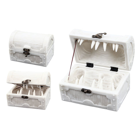 Mimic Chest Dice Storage Box - Paintable - Holds up to 5 Sets of Polyhedral Dice or 35 Individual Dice