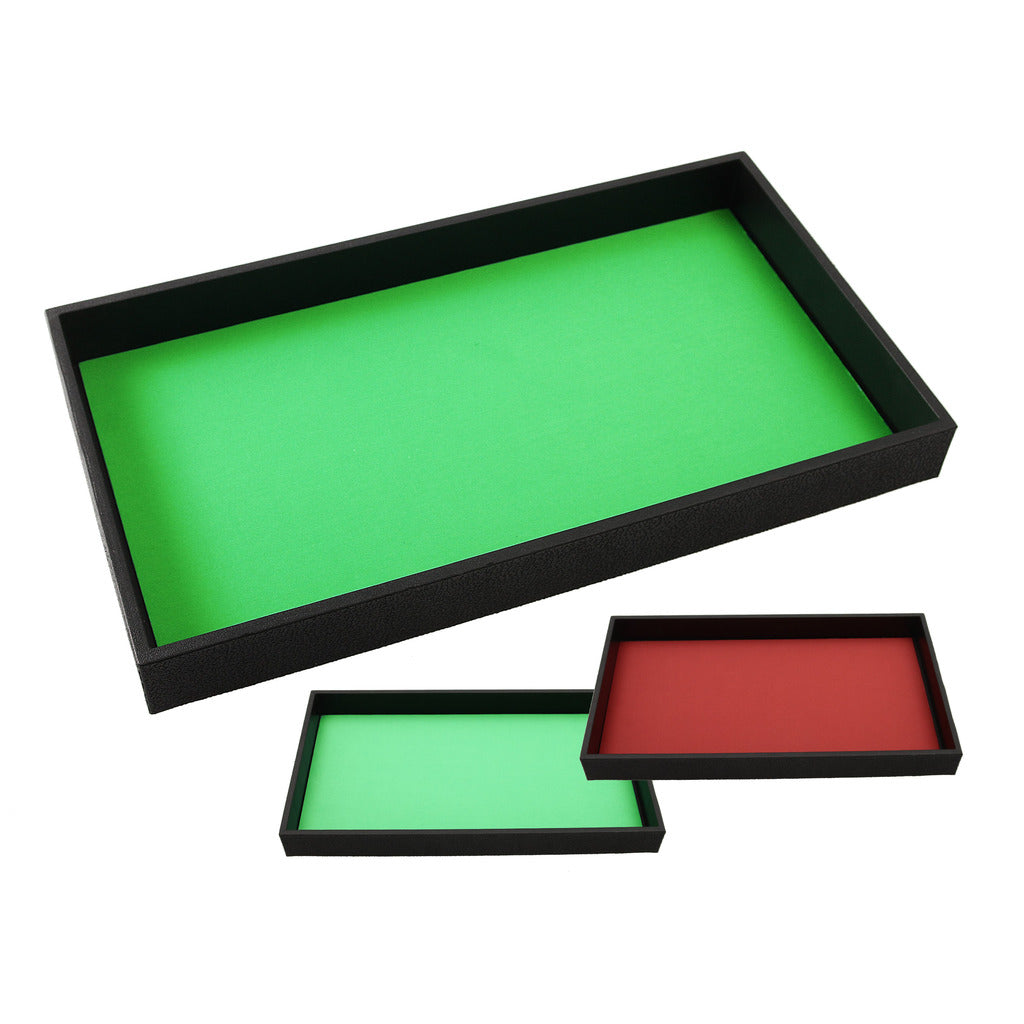 DICE TRAY - Reversible Red and Green Plain Rolling Mat