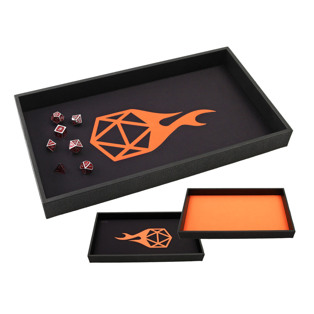DICE TRAY - Reversible Orange Icon Rolling Mat