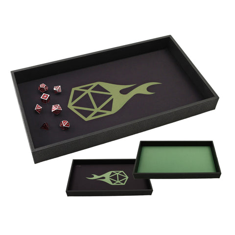 DICE TRAY - Reversible Green Icon Rolling Mat