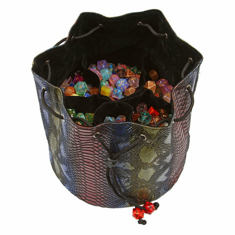 Pouch of The Endless Hoard Dice Bag - Holds Over 1,000 Polyhedral Dice - Dice Storage Bag with 6 Pockets