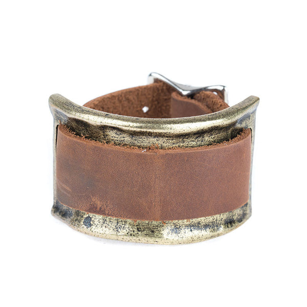 CUFF BRACELET & LEATHER BAND
