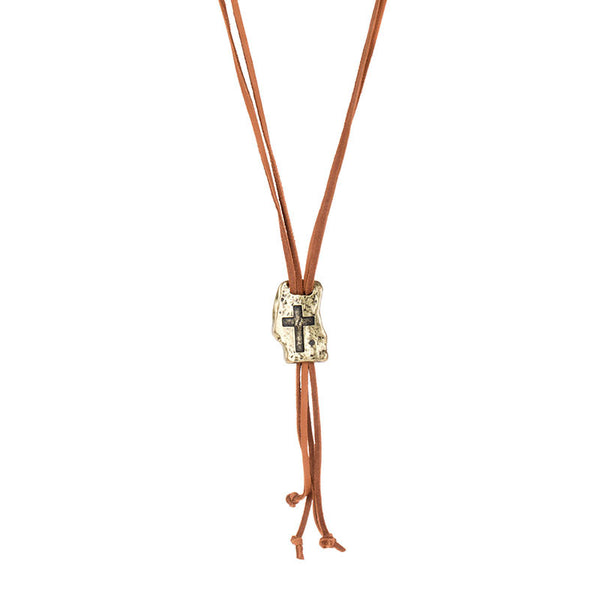 FAITH OF MINE CROSS LARIAT NECKLACE