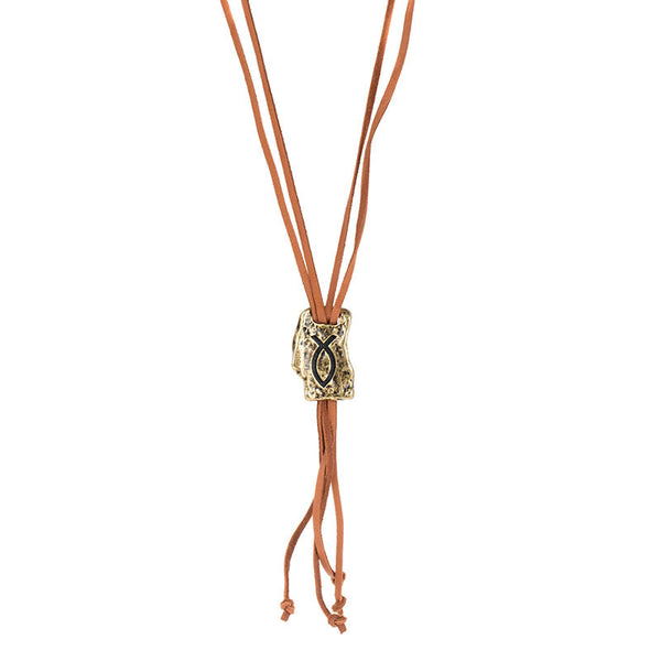 FAITH OF MINE FISH LARIAT NECKLACE