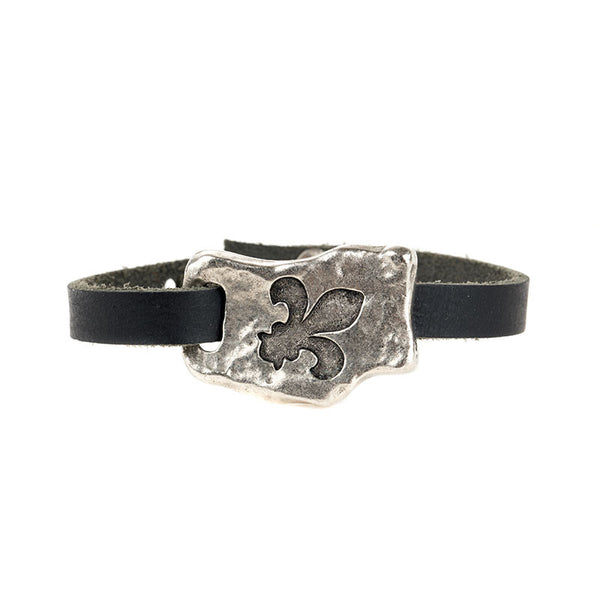 FAITH OF MINE FLEUR-DE-LIS SINGLE BAND BRACELET