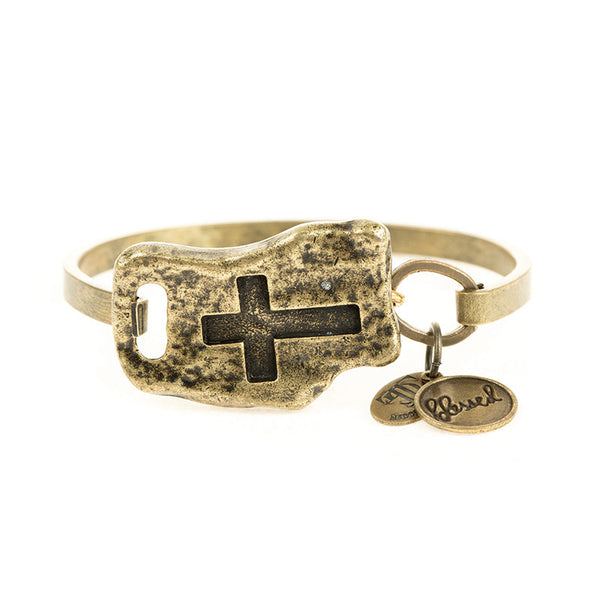 FAITH OF MINE CROSS BANGLE