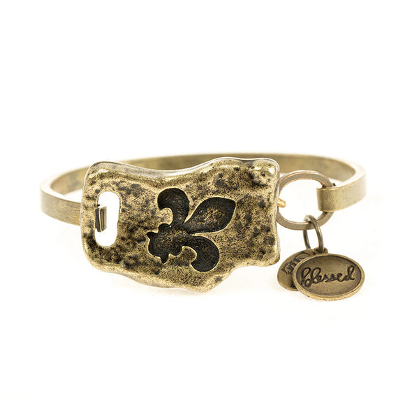 FAITH OF MINE FLEUR-DE-LIS BANGLE