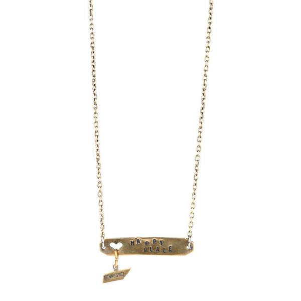 HAPPY PLACE NECKLACE BRASS