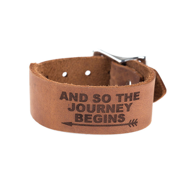 BROWN JOURNEY LEATHER BAND
