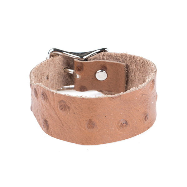 BROWN OSTRICH LEATHER BAND