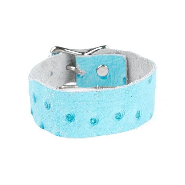 TURQUOISE OSTRICH LEATHER BAND