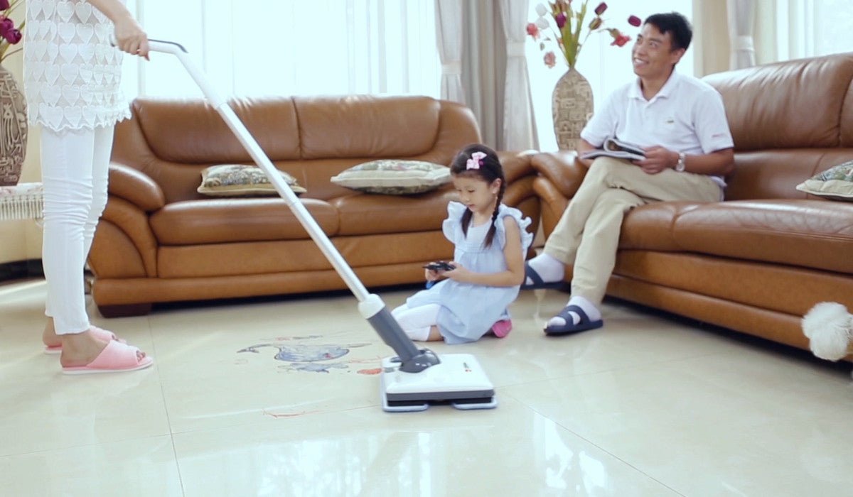 Le Coucou SC-D1 Vibration Action Scrubber Floor/Carpet Wet Dry Multi Cleaner Jet Spray Auto Sweeper Cordless Power Mop