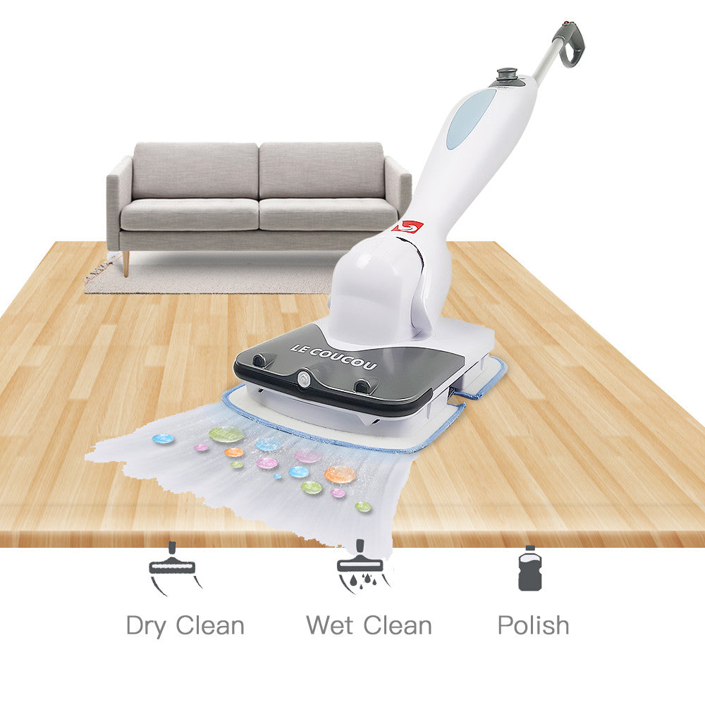 Le Coucou SC-168 Sonic Multi Clean Cordless Electric Floor and Carpet Vibration Power Spray Mop, Hardfloor Cleaner Automatic Sweeper