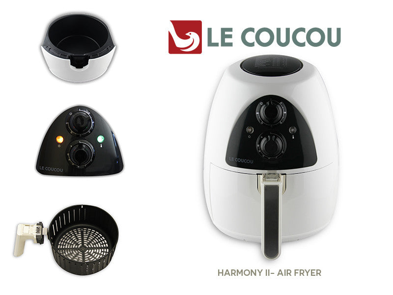 Le Coucou HarmonyI-W Airfryer Low Fat Frying Grilling Non-Stick No Oil-Smoke Rapid Cooker Air Fryer