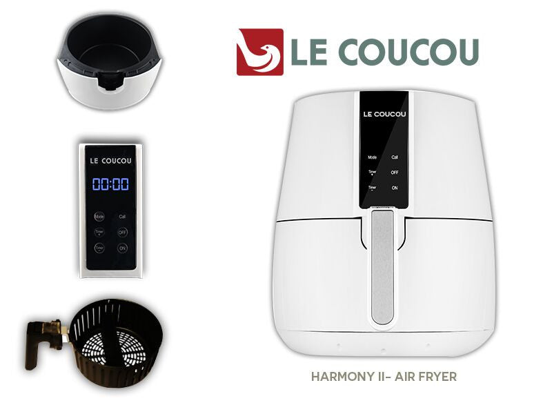 Le Coucou Airfryer Harmony II-W Low Fat Non-Stick No Oil Smoke Rapid Cooking Air Fryer