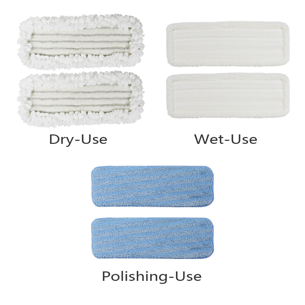 Le Coucou SCD1-MP Refill Replacement for SC-D1 Vibration Mop Complete Wet, Dry, Polish Mop Head Variety Pads (3 pack)