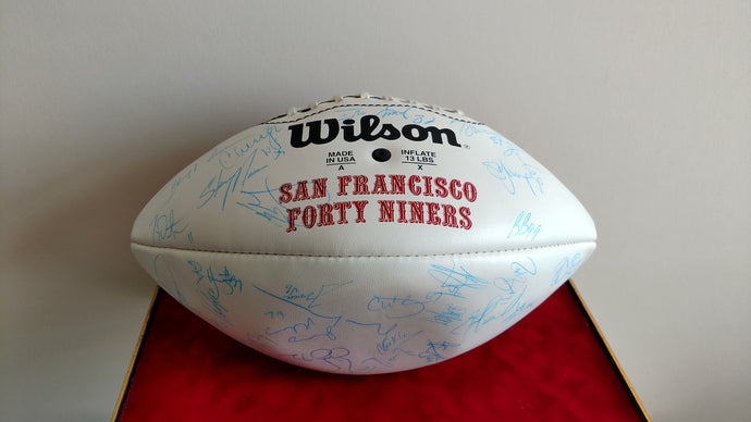 49ers Autographed Football - 49ers Team Signatures