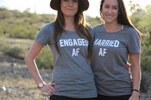 Married AF // Engaged AF Crewneck Tshirt
