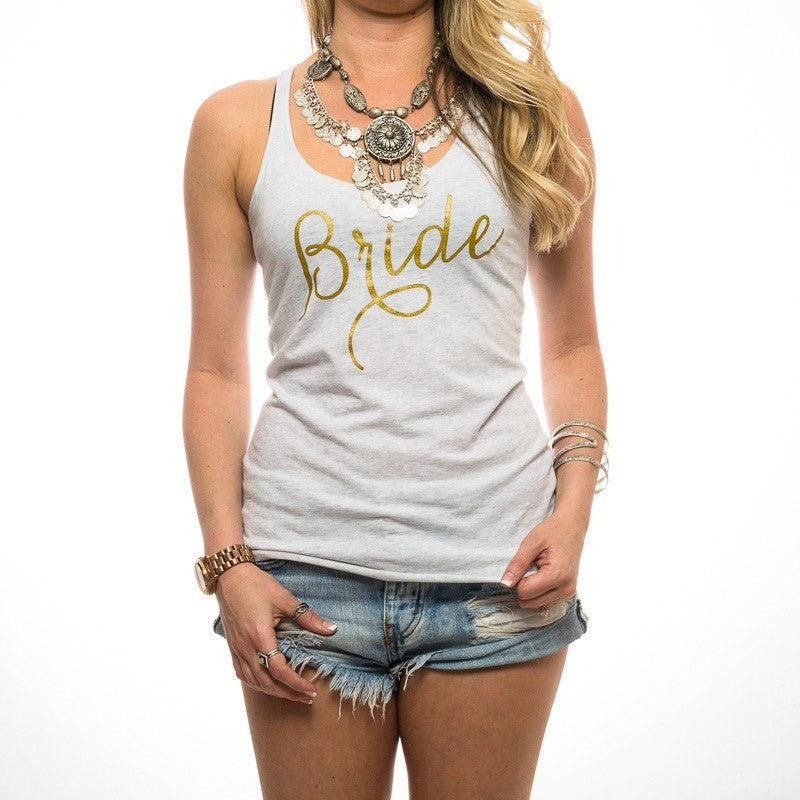 Shimmery Gold Bride Tank