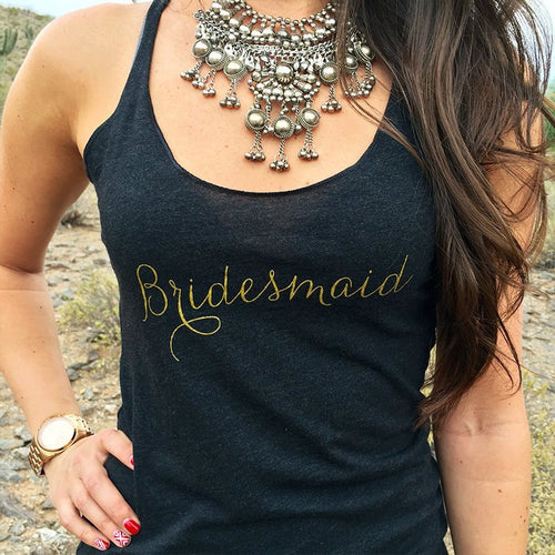 Gold Bridal Party Tank